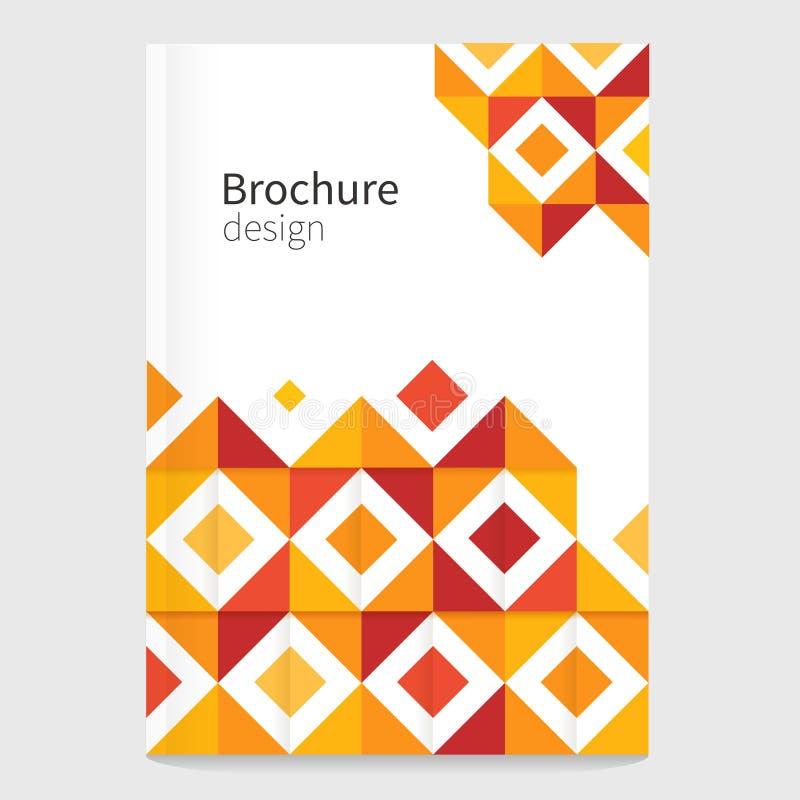 Broschüre, Broschüre, Flieger, Abdeckung Schablone Moderner geometrischer abstrakter Hintergrund lizenzfreie abbildung