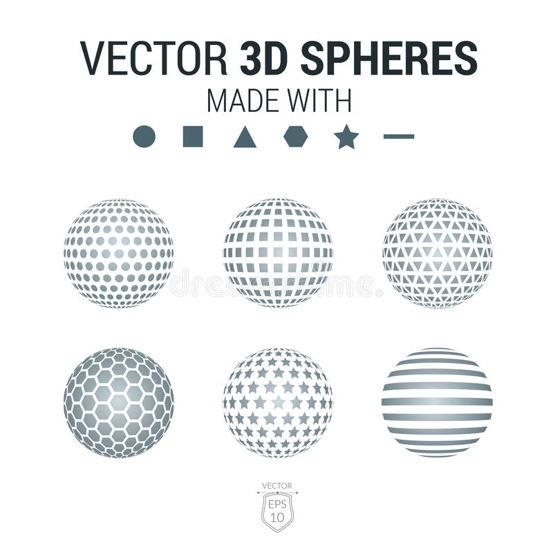 Broschüre, Flieger mit Satz des Bereichs 3D der geometrischen Formen Vect stock abbildung