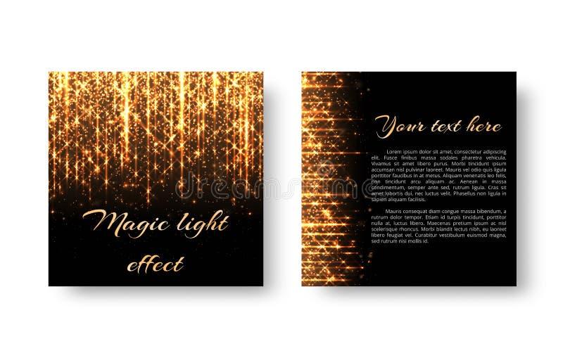 Broschüre mit goldenen Lichtern vektor abbildung