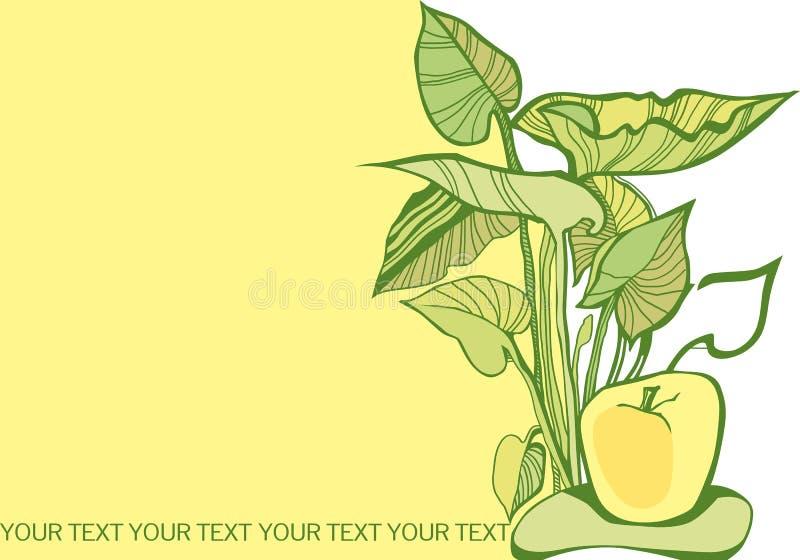 Broschüre mit vegetativen Elementen lizenzfreie abbildung