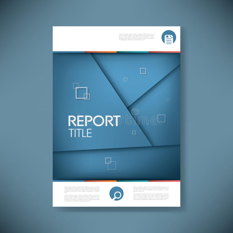 Broschüre oder Jahresberichtabdeckung mit Zusammenfassung lizenzfreie abbildung