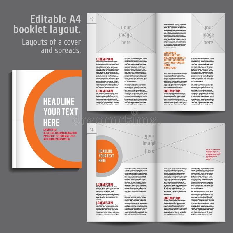 Broschüre A4 Plan-Design-Schablone mit Abdeckung lizenzfreie abbildung