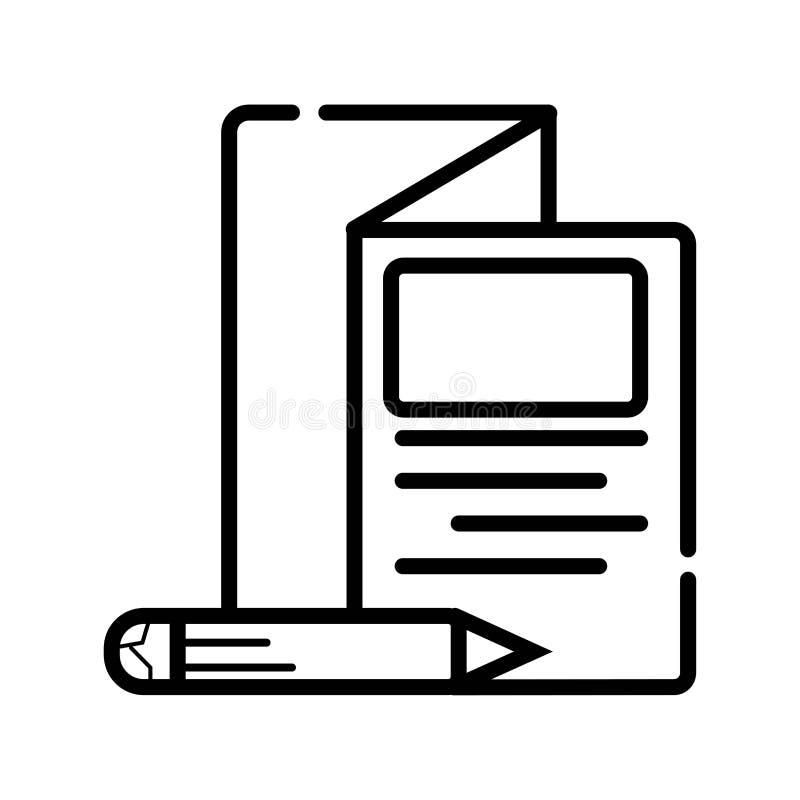 Broschüren-Fliegerikone des Vektors dreifachgefaltete lizenzfreie abbildung