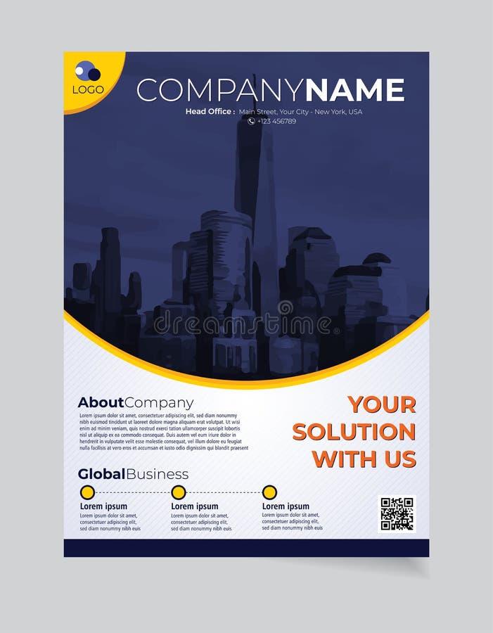 Broschüren-Geschäftsschablone einfacher moderner Entwurf und elegant_business Broschürenschablone 03 lizenzfreie abbildung