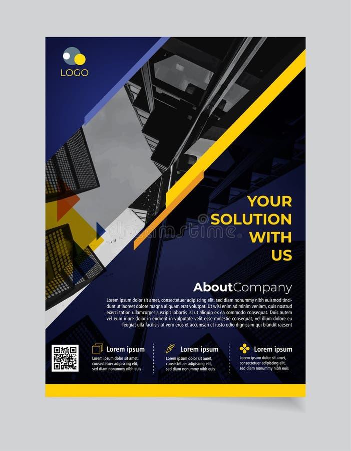Broschüren-Geschäftsschablone einfacher moderner Entwurf und elegant_business Broschürenschablone 10 stock abbildung