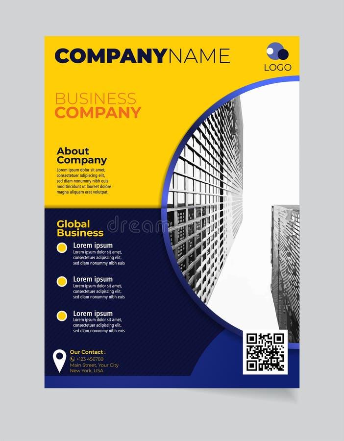 Broschüren-Geschäftsschablone einfacher moderner Entwurf und elegant_business Broschürenschablone 12 lizenzfreie abbildung