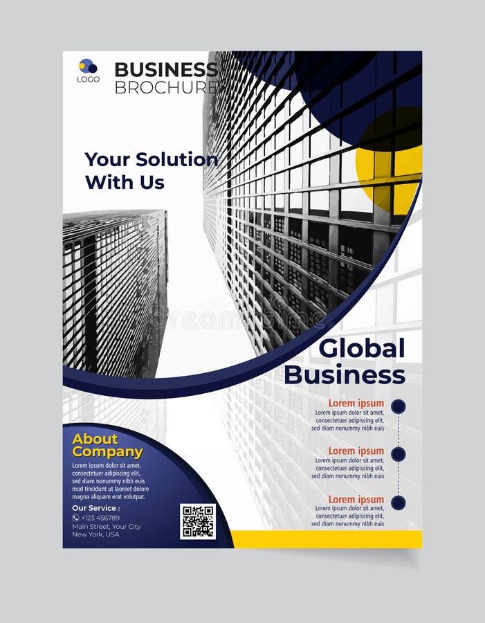 Broschüren-Geschäftsschablone einfacher moderner Entwurf und elegant_business Broschürenschablone 01 lizenzfreie abbildung