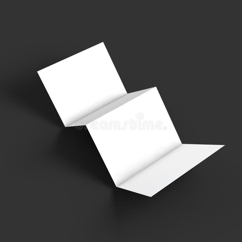 Broschüren-Modellschablone des Zickzacks vier stock abbildung