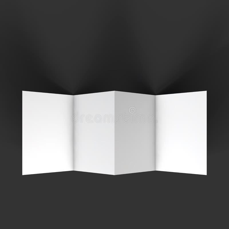 Broschüren-Modellschablone des Zickzacks vier vektor abbildung