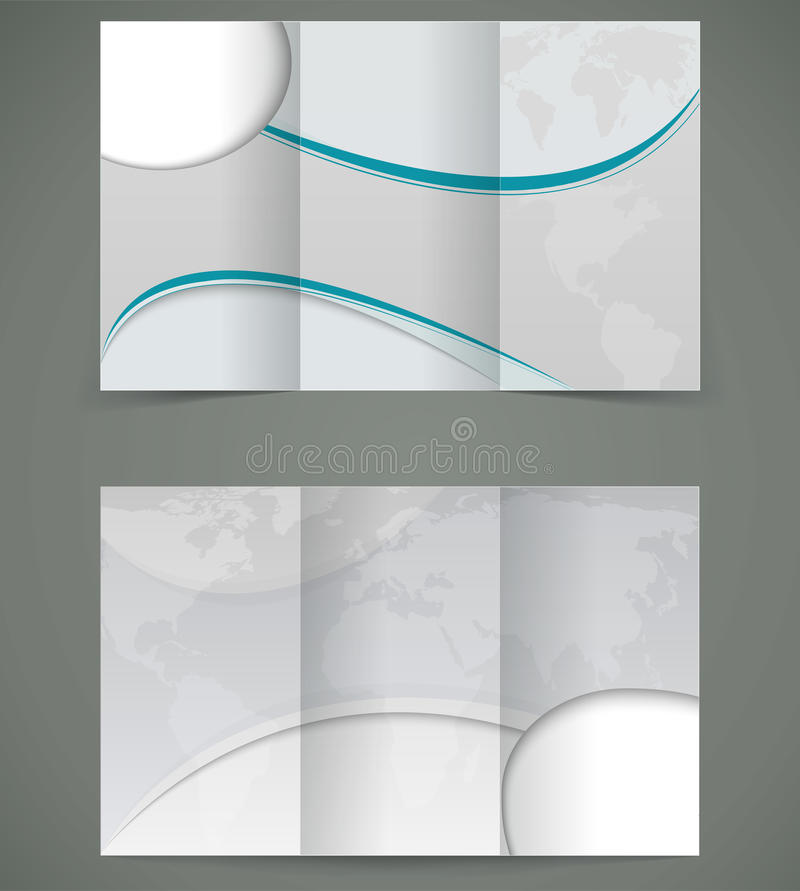 Broschüren-Plan Design des Vektors silbernes, Geschäft thr stock abbildung