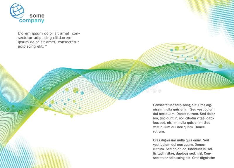 Broschüren-Schablone lizenzfreie abbildung