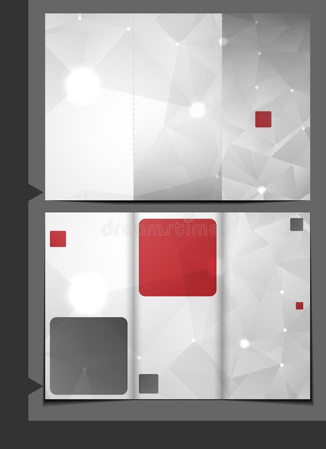Broschüren-Schablonen-Design. stock abbildung