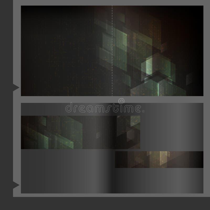 Broschüren-Schablonen-Design. vektor abbildung