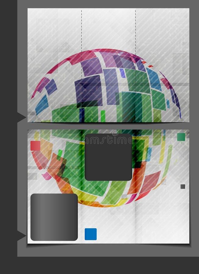Broschüren-Schablonen-Design. lizenzfreie abbildung