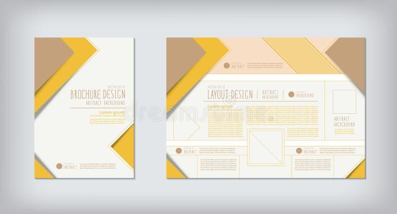 Broschüren und Planzickzack-Konzeptdesignvektor lizenzfreie abbildung
