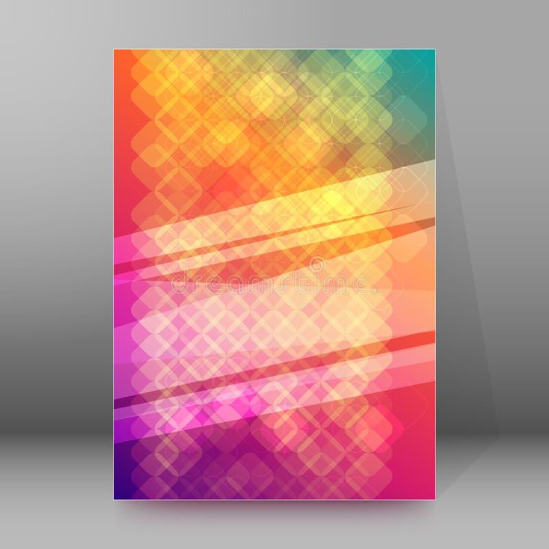 BroschürenAbdeckung Schablone vertikales Format glühendes background12 lizenzfreie abbildung