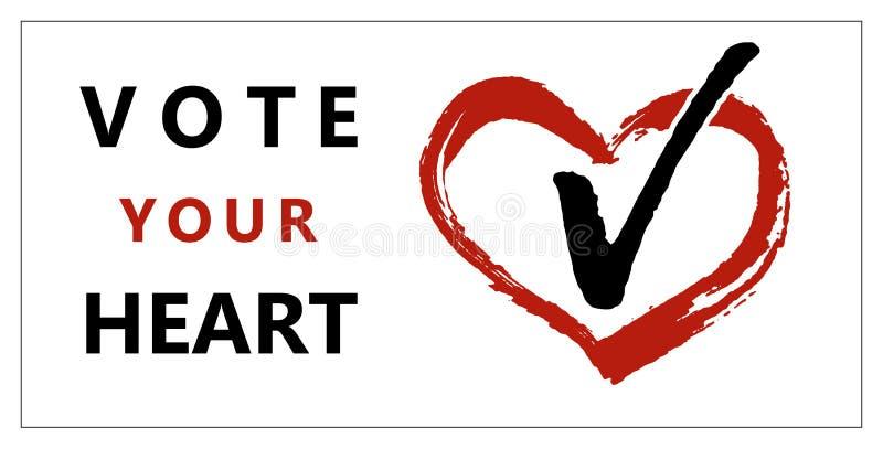 Broschürenabstimmung Ihr Herz stock abbildung