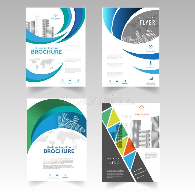 Broschürenflieger-TitelseitenBroschürenplakatdesign stock abbildung