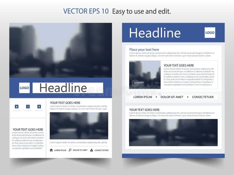 Broschürenfliegerdesign-Schablonenvektor, flacher Hintergrund der Broschürenabdeckungsdarstellungs-Zusammenfassung, Plan in A4 vektor abbildung