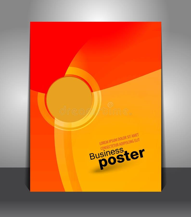 Broschürengeschäftsdesignschablone lizenzfreie abbildung