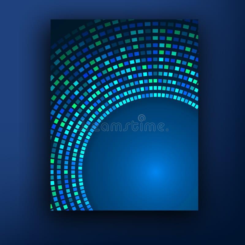 Broschürengeschäftsdesignschablone oder -fahne entziehen Sie Hintergrund lizenzfreie abbildung