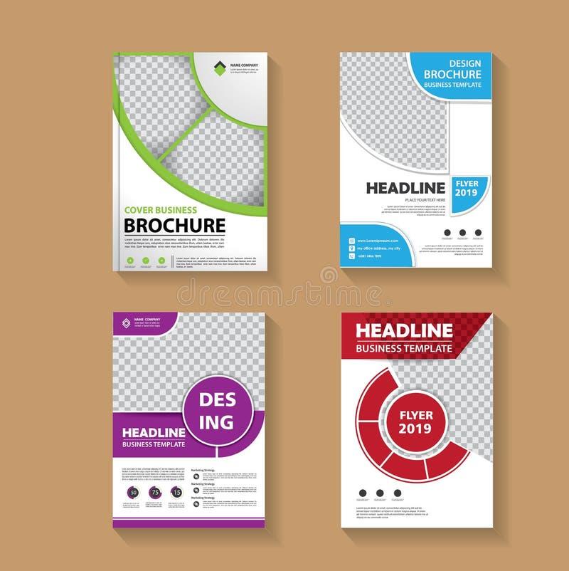 Broschürenlayout, Cover Design-Jahresbericht, Zeitschrift, Flyer oder Booklet-Hintergrund stockbild