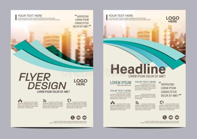 Broschürenplan-Designschablone Moderner Hintergrund Jahresbericht-Flieger-Broschürenabdeckung Darstellung Illustration in A4 lizenzfreie abbildung