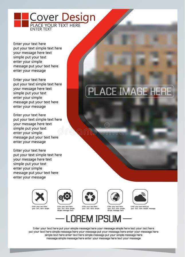 Broschürenschablone für jährliche Technologie bezogene reposts, Plan des Vektordesigns a4 mit Raum für Text und Fotos drei stock abbildung