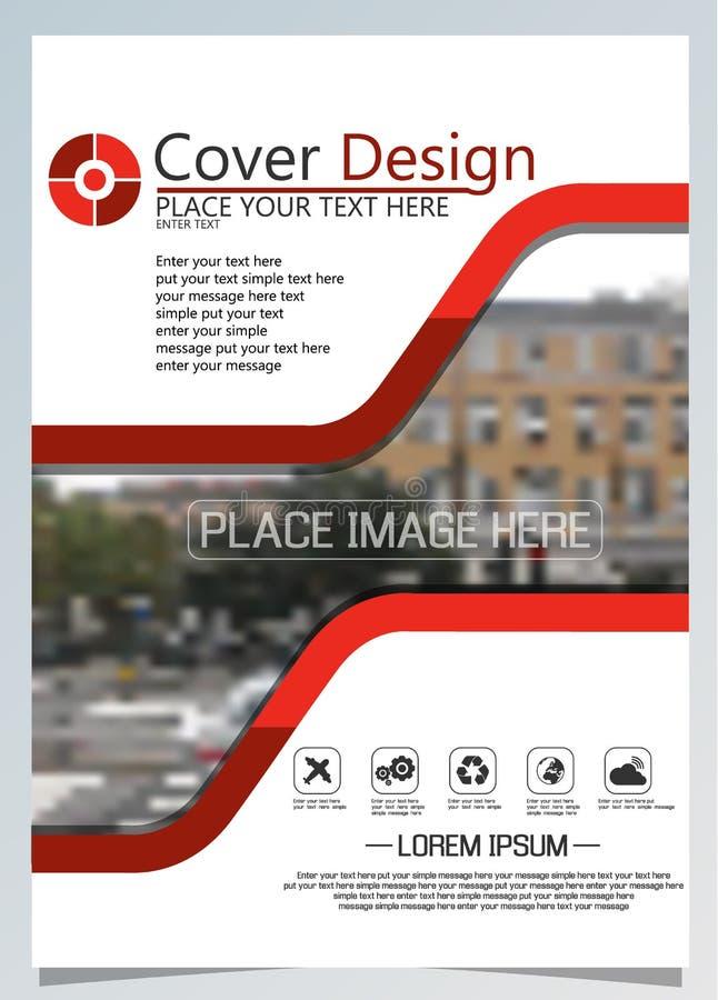 Broschürenschablone für jährliche Technologie bezogene reposts, Plan des Vektordesigns a4 mit Raum für Text und Fotos eins lizenzfreie abbildung