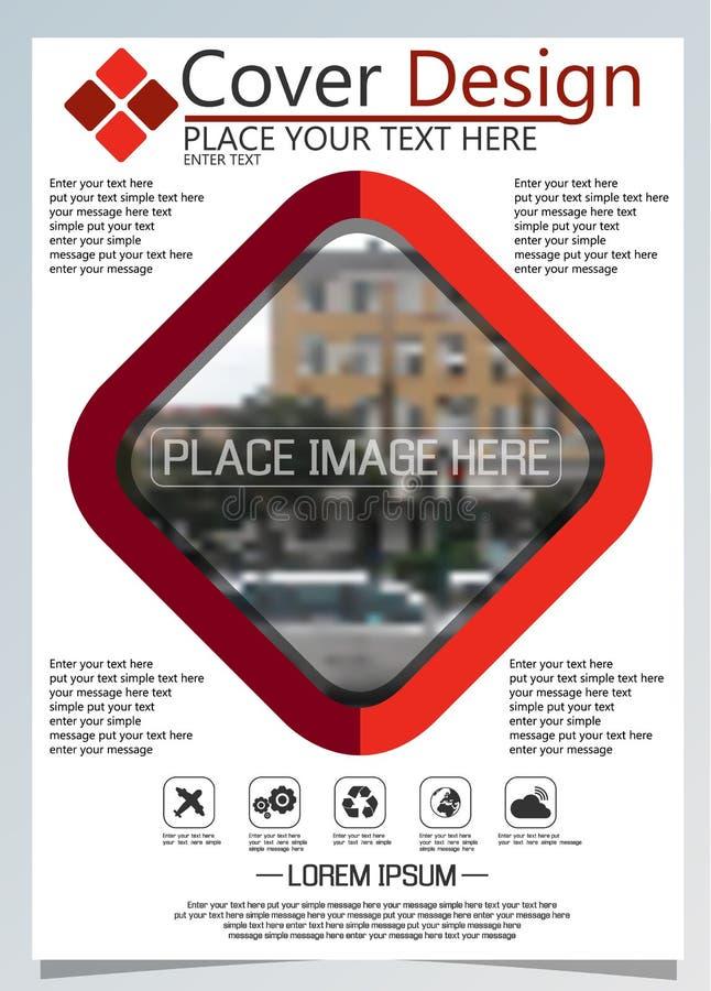 Broschürenschablone für jährliche Technologie bezogene reposts, Plan des Vektordesigns a4 mit Raum für Text und Fotos neun stock abbildung