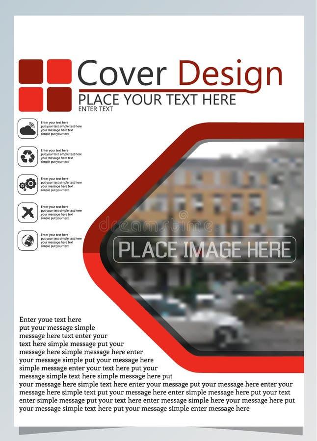 Broschürenschablone für jährliche Technologie bezogene reposts, Plan des Vektordesigns a4 mit Raum für Text und Fotos zwei lizenzfreie abbildung