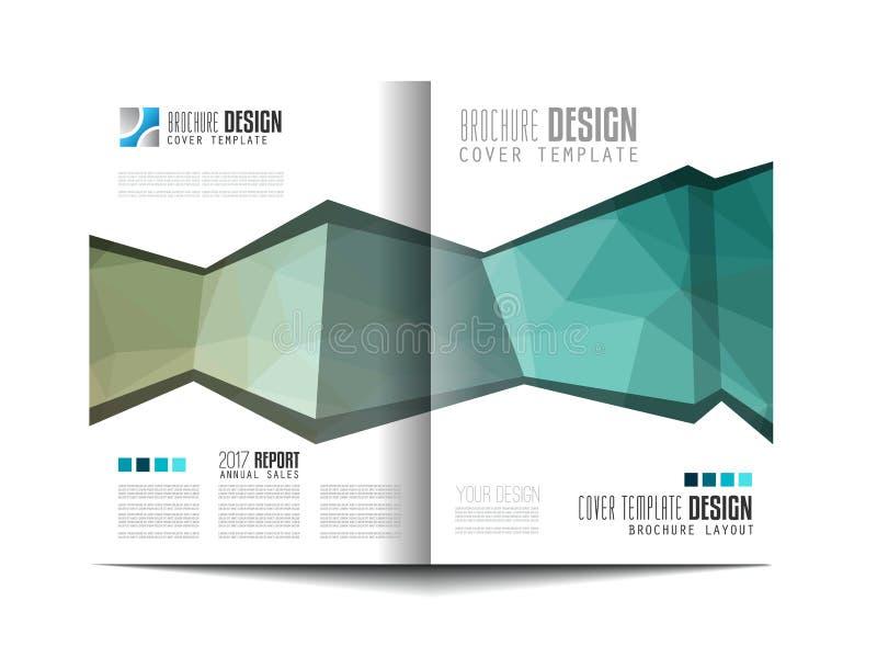 Broschürenschablone, Flieger-Design oder Depliant-Abdeckung vektor abbildung