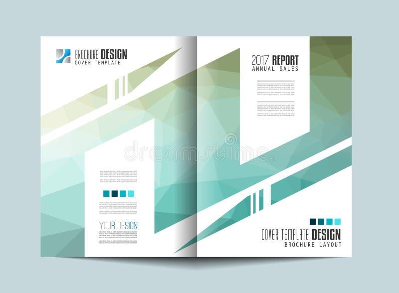 Broschürenschablone, Flieger-Design oder Depliant-Abdeckung für Geschäftsdarstellung vektor abbildung