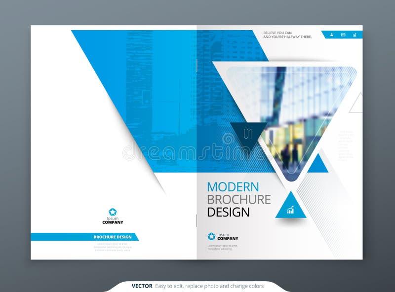 Broschürenschablonen-Plandesign Firmenkundengeschäftjahresbericht, Katalog, Zeitschrift, Fliegermodell Kreatives modernes vektor abbildung