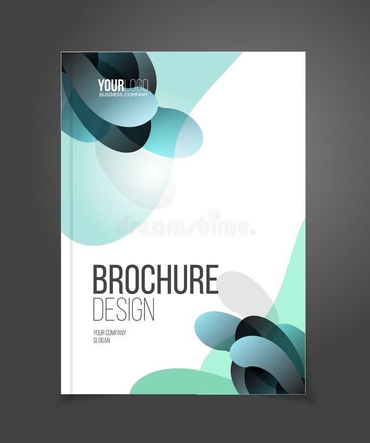 Broschürenschablonen-Vektorillustration, Abdeckungsdesign-Jahrbuch repor stock abbildung