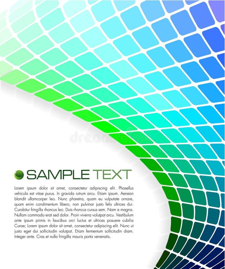 Broschüreschablone lizenzfreie abbildung