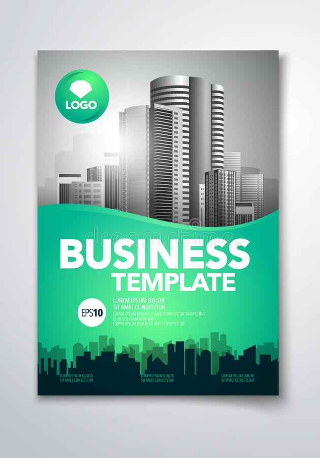 Vector illustration poster flyer pamphlet brochure cover design layout space for photo background, template in A4 size vector illustration