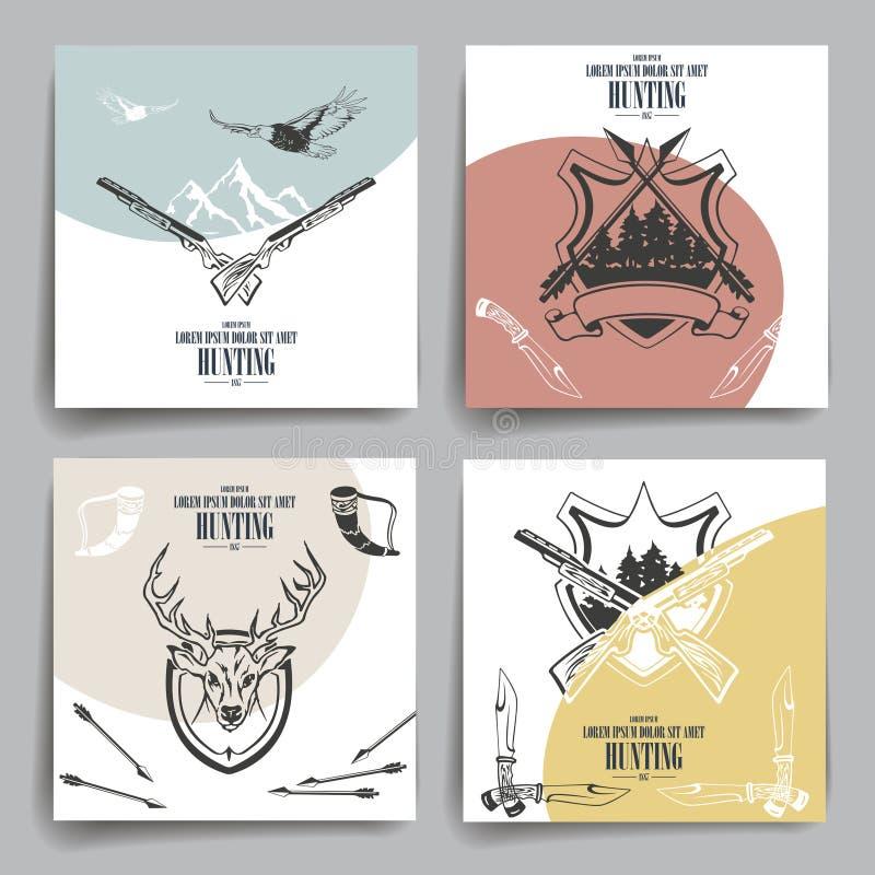 Broschyr- eller reklambladdesign Vapen djur vektor illustrationer