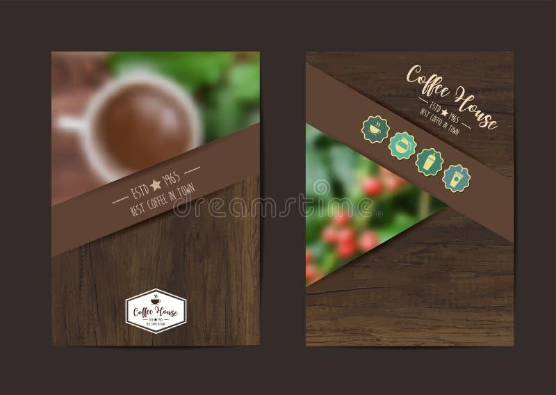 Broschyr för affär för räkning för reklamblad för vektorkaffebakgrund geometrisk royaltyfri illustrationer
