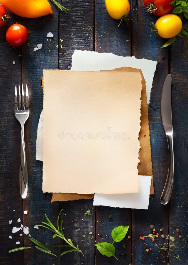 Broschyr för kafémenyrestaurang Matdesignmall royaltyfri bild