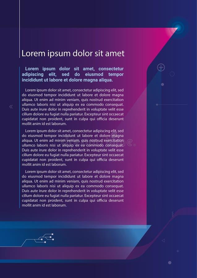 Broschyr för broschyr för rapport för rengöringsduk för reklambladmalldesign royaltyfria foton