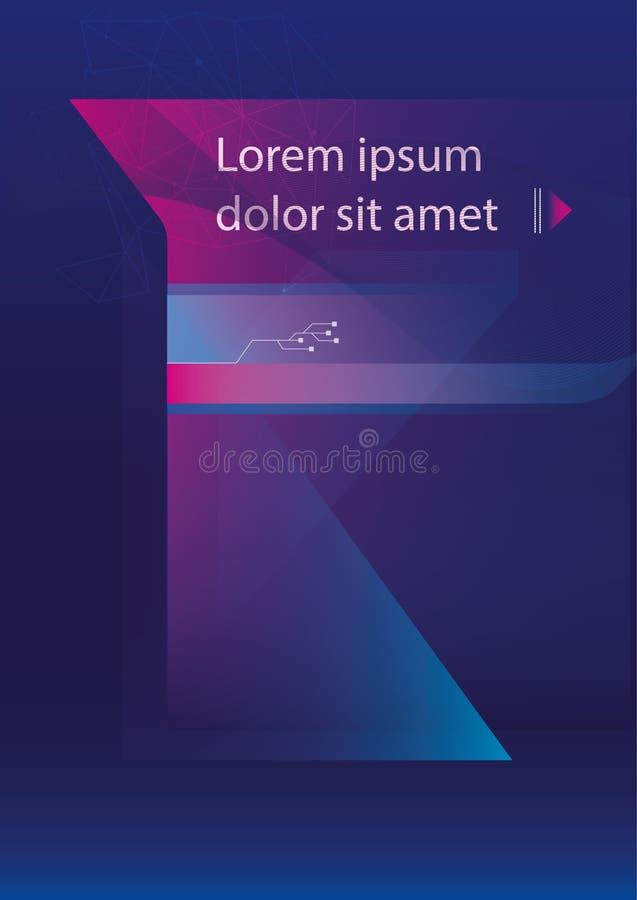Broschyr för broschyr för rapport för rengöringsduk för reklambladmalldesign arkivbilder