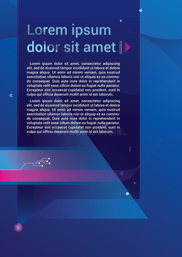 Broschyr för broschyr för rapport för rengöringsduk för reklambladmalldesign royaltyfri bild