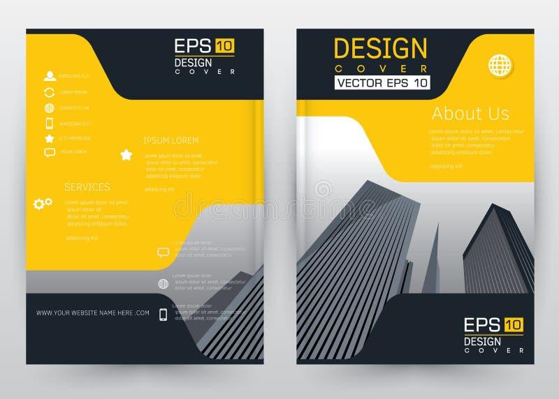 Broschyr för uppsättning för mall för räkningsdesignvektor, årsrapport, tidskrift, affisch, företags presentation, portfölj, rekl vektor illustrationer