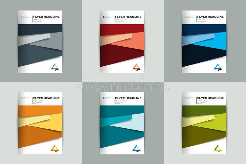 Broschyr reklamblad, årsrapporträkningsdesign royaltyfri illustrationer