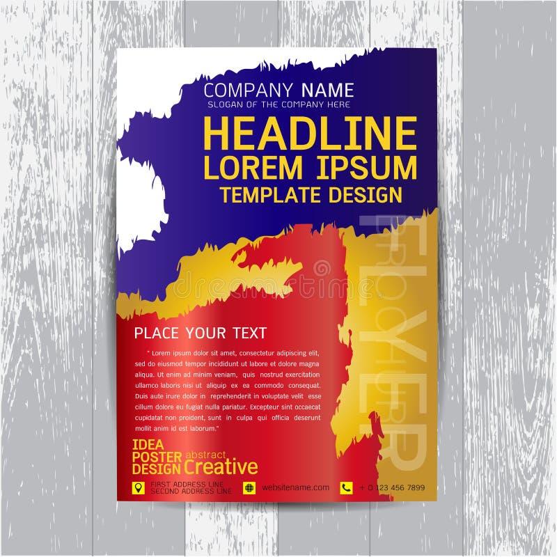 Broschyr reklamblad, affisch, mall för designorientering i formatet A4 vektor illustrationer