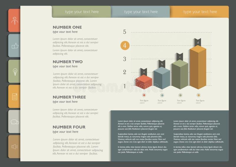 Broschyr reklamblad, informationsblad, årsrapportorienteringsmall vektor illustrationer