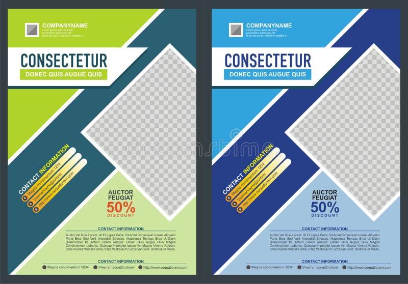 Broschyr - reklambladmalldesign vektor illustrationer
