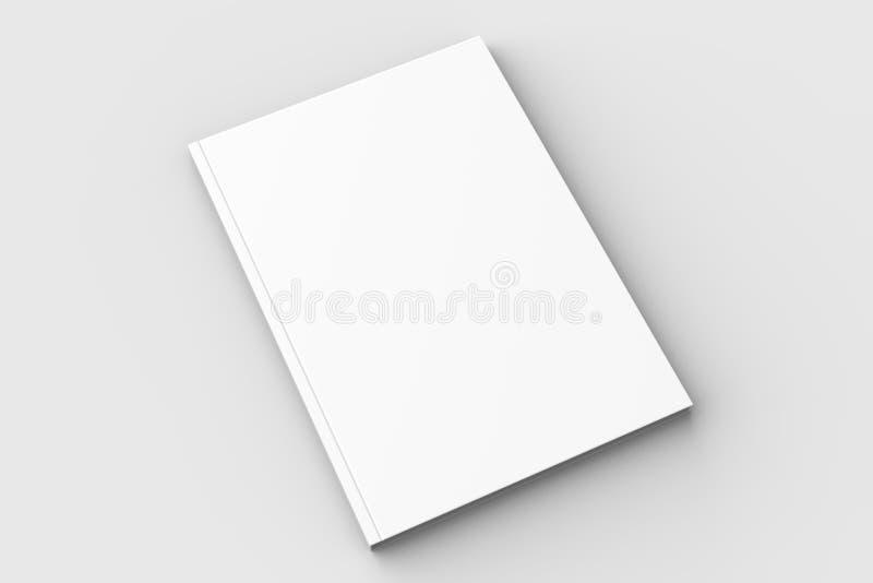 Broschyr-, tidskrift-, bok- eller katalogåtlöje som isoleras upp på mjuk gra stock illustrationer