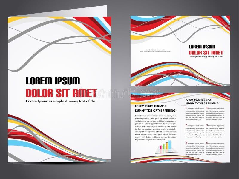 broschyraffärsvektor vektor illustrationer